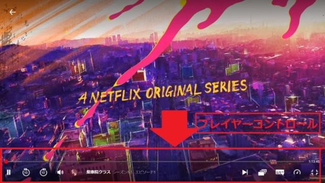 Netflixでスクショする際の確認・注意事項/プレイヤーコントロール